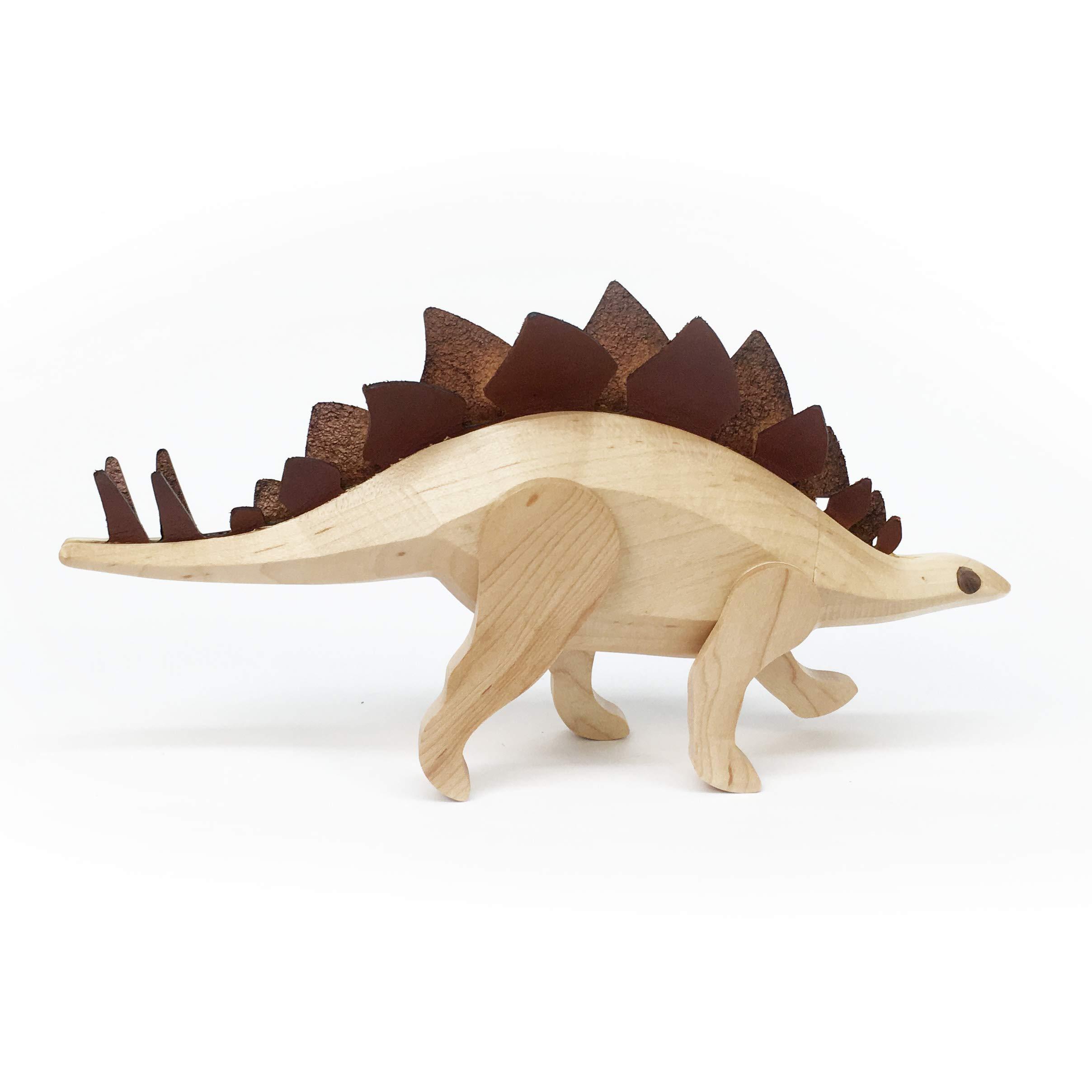 Detour Goods Wooden Stegosaurus Dinosaur by Detour Goods