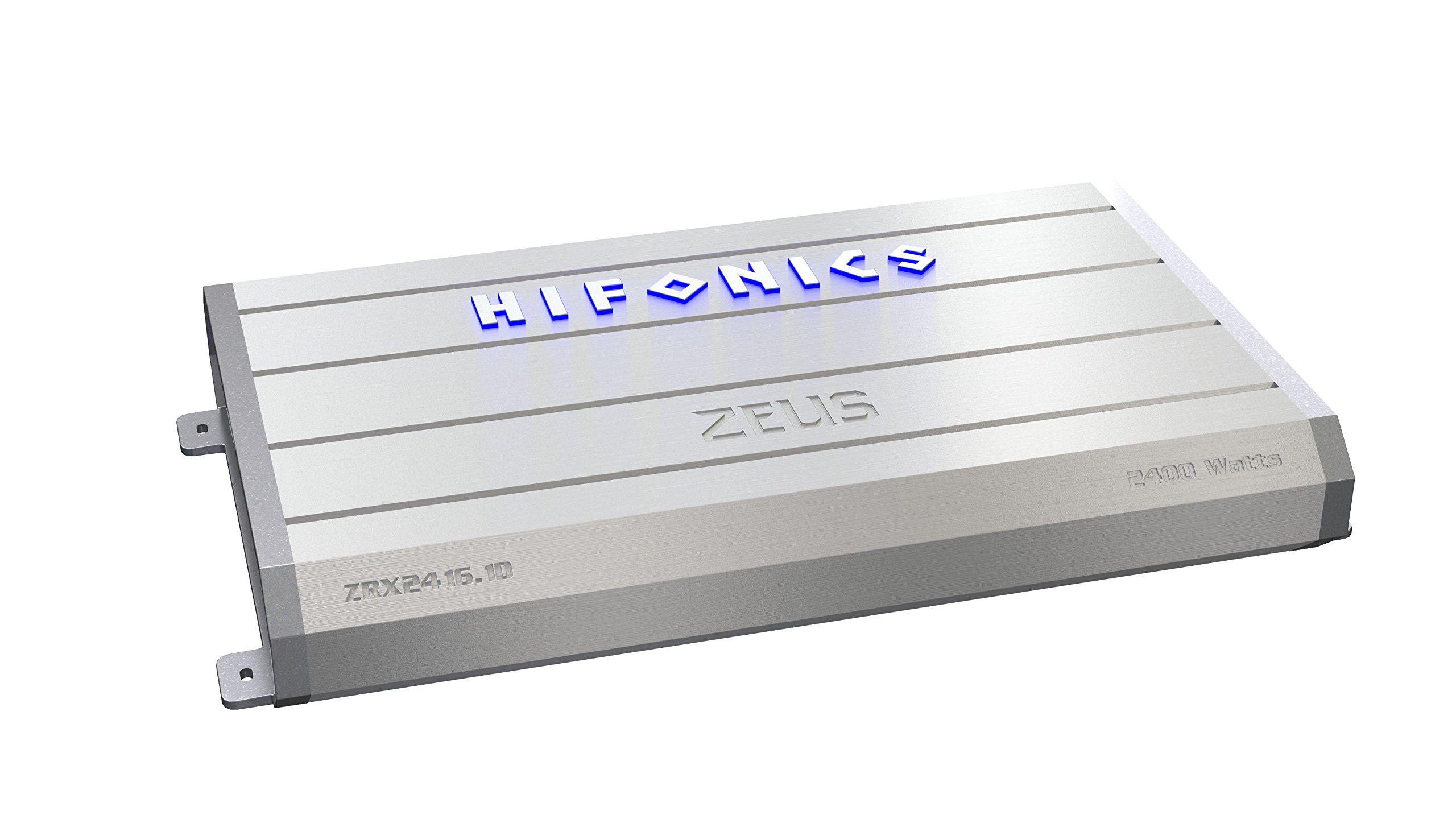 Hifonics ZRX2416.1D Zeus Mono Class-D Subwoofer Amplifier, 2400-Watt