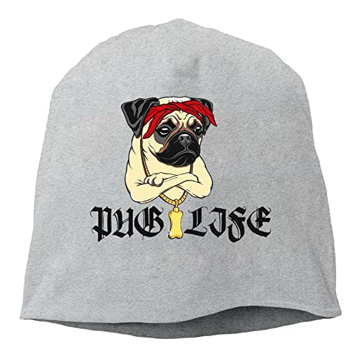 Fashion Solid Color Pug Life Beanie Cap For Unisex Ash One Size at ... c77dc6f6625