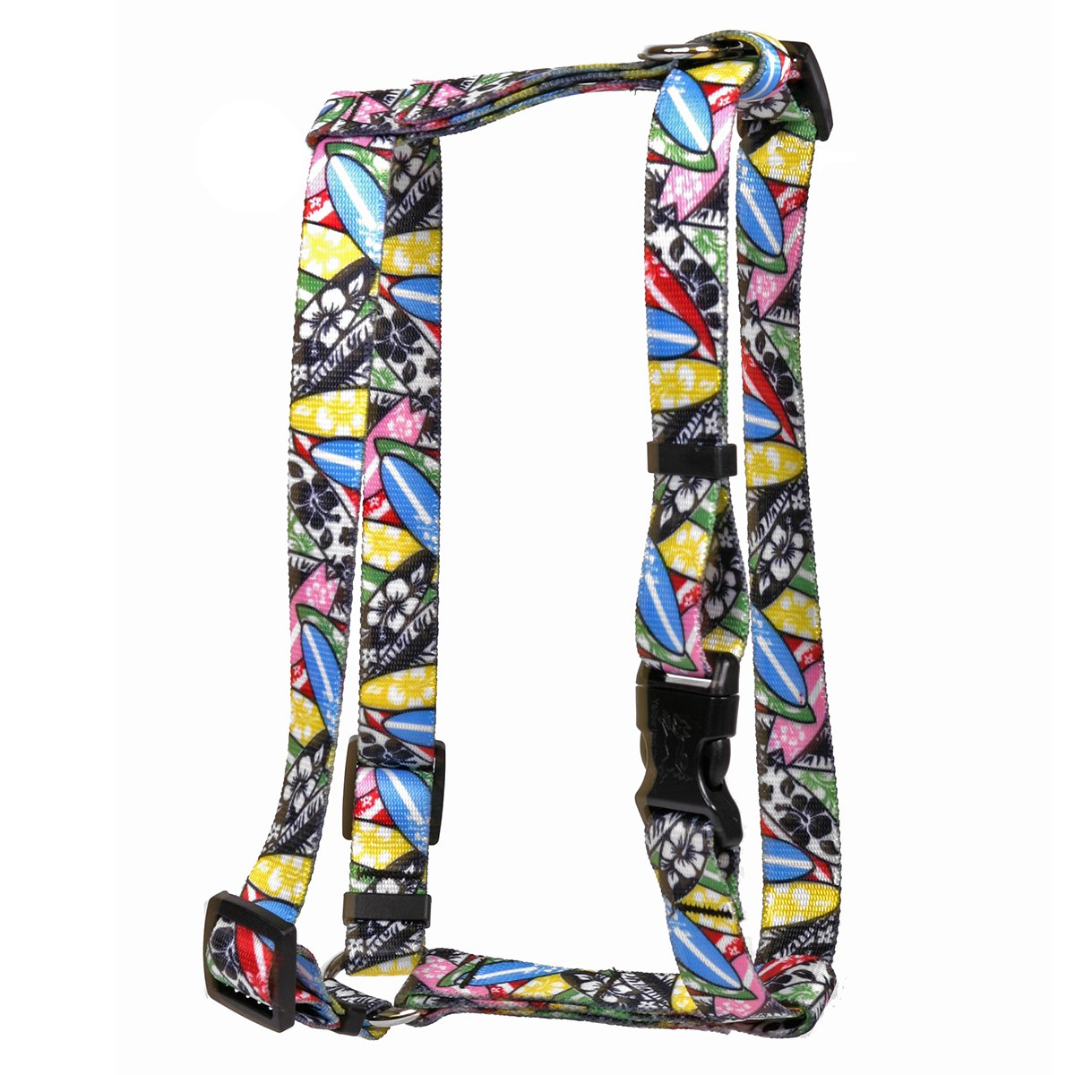 Extra Large 28\ Yellow Dog Design Surfboards Roman Style H  Dog Harness-X-Large-1  and fits Chest Circumference of 28 to 36