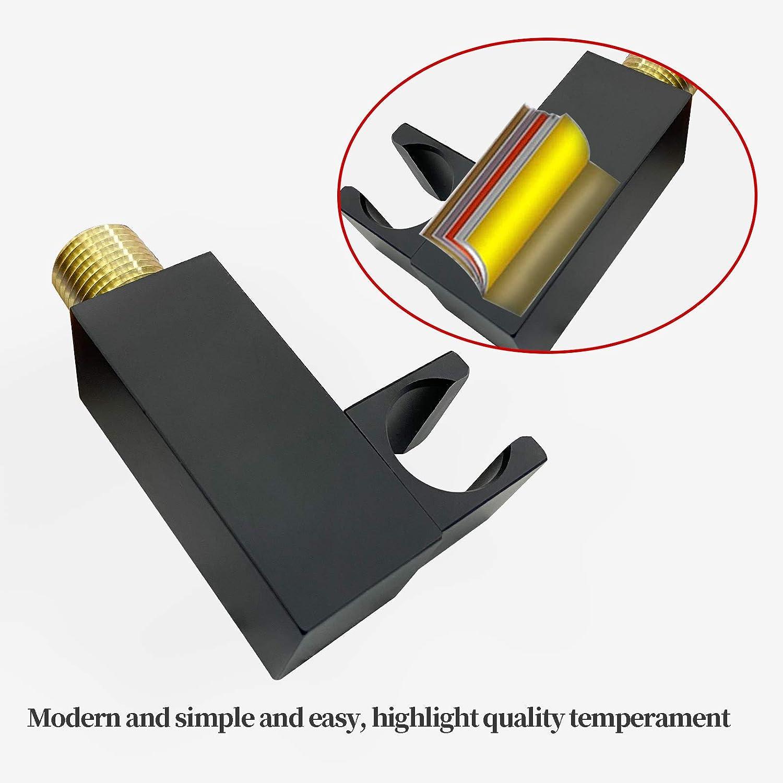 Matte Black Brass Handheld Shower Adjustable Bracket Holder Wall-Mount for Bathroom Ceiling Shower System Hand Sprayer