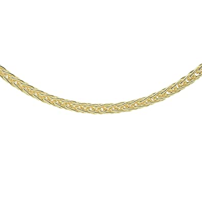 Carissima Gold Women's 9 ct Gold 1 mm Spiga Chain Necklace