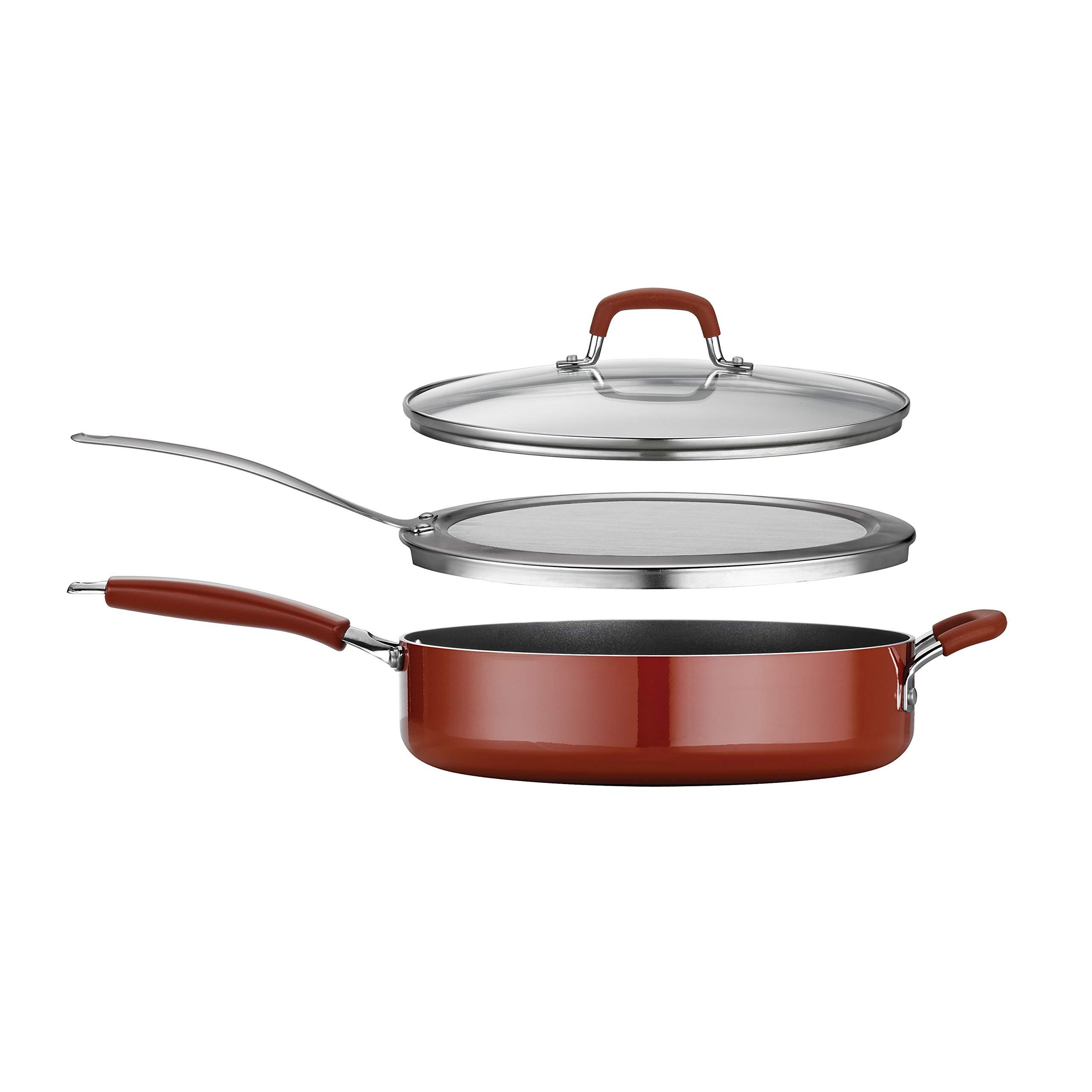 Tramontina 80151/504 Simple Cooking Aluminum Red Handles, 3 Piece, Porcelain Enamel Deep Saute Set, Spice by Tramontina (Image #4)