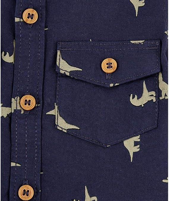 Mothercare MB St NVY AOP Dino Shirt Ls Mixte b/éb/é