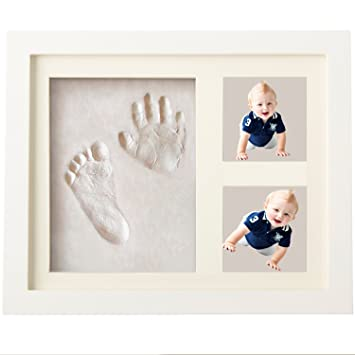 3 pcs Premium Ready Made Clay Bags for Newborn Girls and Boys Hand and Foot Prints Casting Keepsake Baby Gift Discoball Baby Handprint Kit and Footprint Picture Frame Clay Kit