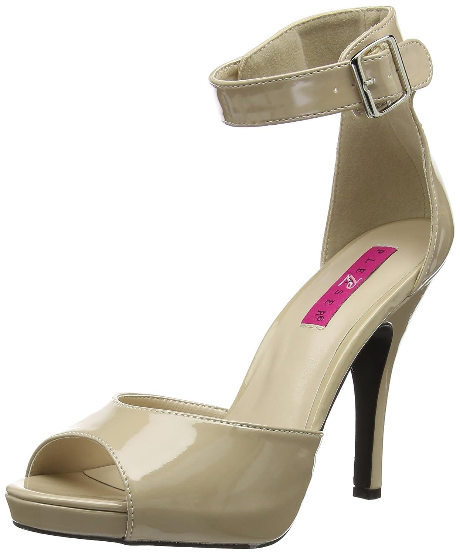 Pleaser Women's Eve02/Cr Platform Dress Sandal B06XBJDPHM 9 B(M) US|Cream Patent