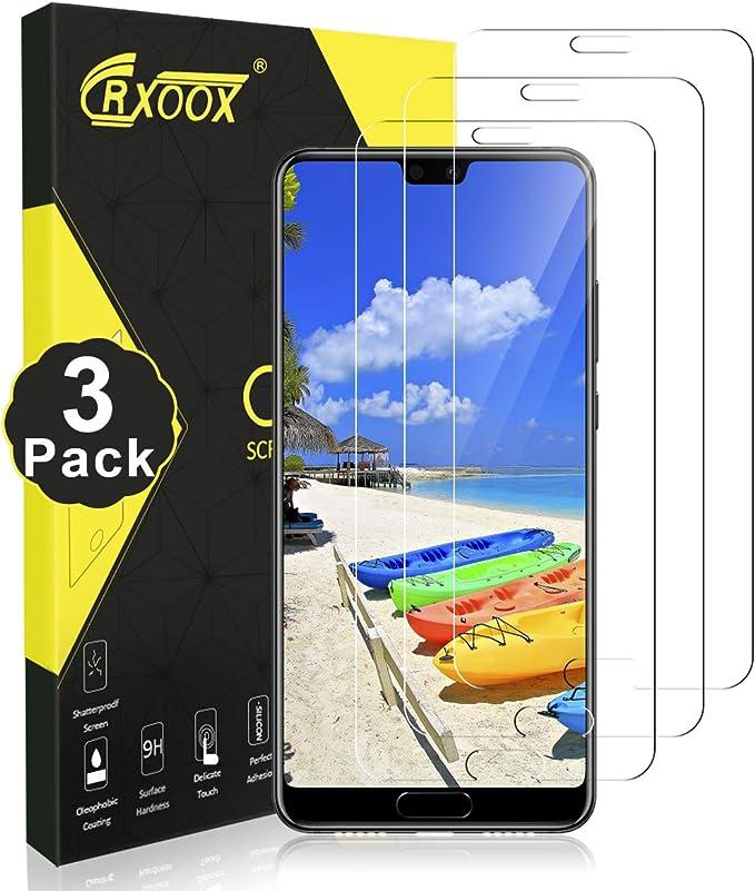 CRXOOX Panzerglas für Huawei P20 Ultra Klar Schutzfolie [3-Stück ...