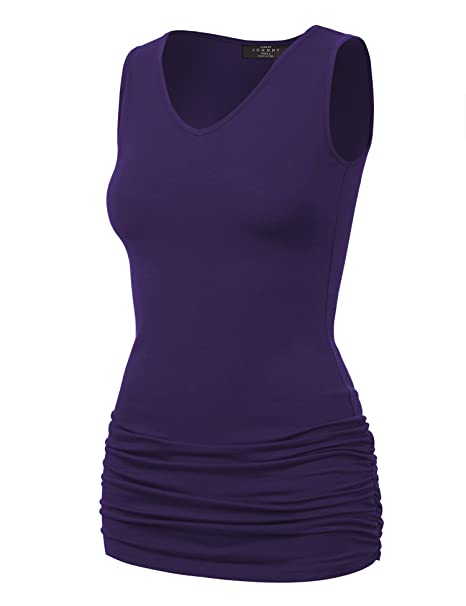 06185663b9b Image Unavailable. Image not available for. Color  MBJ WT1101 Womens Basic  Extra Long Tunic Tank Top ...