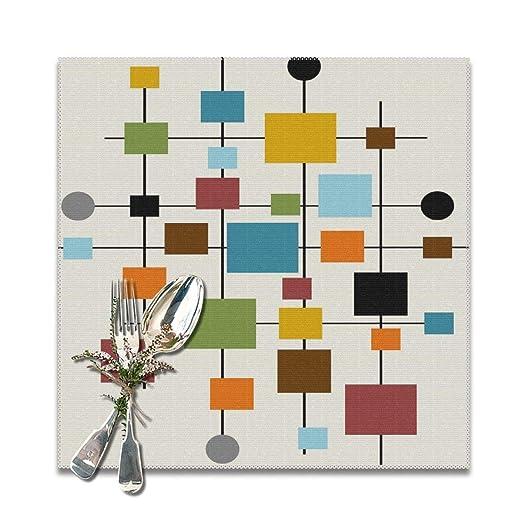 Lilyo-ltd Mid Century Manteles Individuales de Arte Moderno para ...