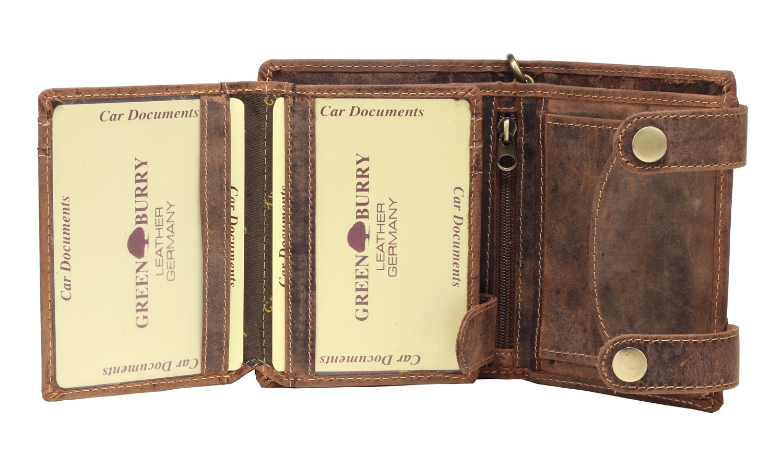 Greenburry Vintage Monedero piel 10 cm marr/ón