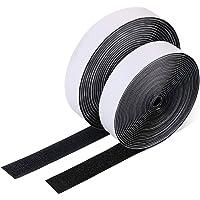 Vicloon Velcro Tape Zelfklevend, 5M Dubbelzijdig Klevend extra Sterk met Klittenbandsluiting, Fleece Tape en Haakband…