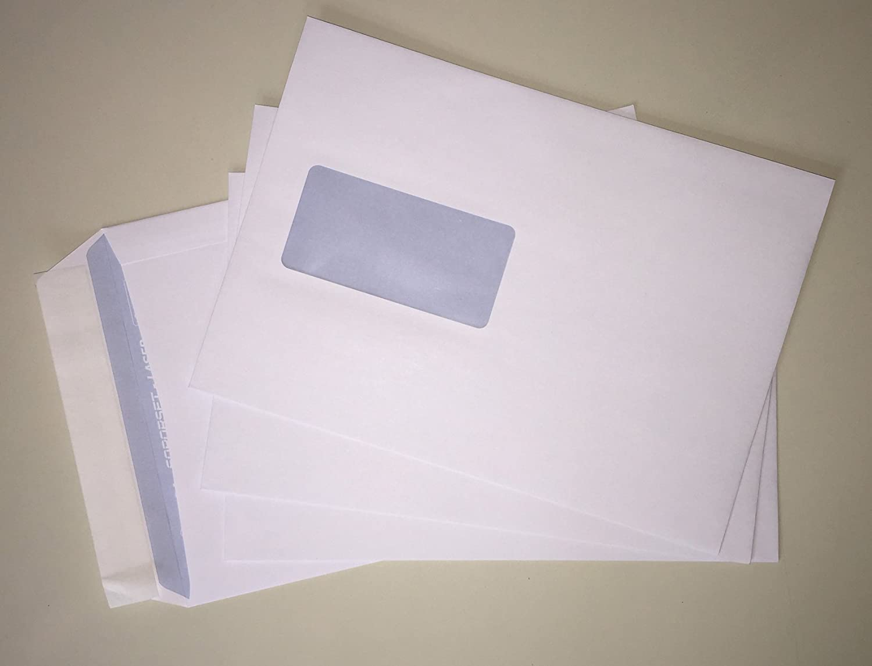 mit Laser bedruckbar 100 Versandtaschen mit Fenster C5 = 229 x 162 mm hitzefestes Folienfenster mit Abziehstreifen Gesch/äftsumschl/äge Markenqualit/ät: Soporset von IGEPA