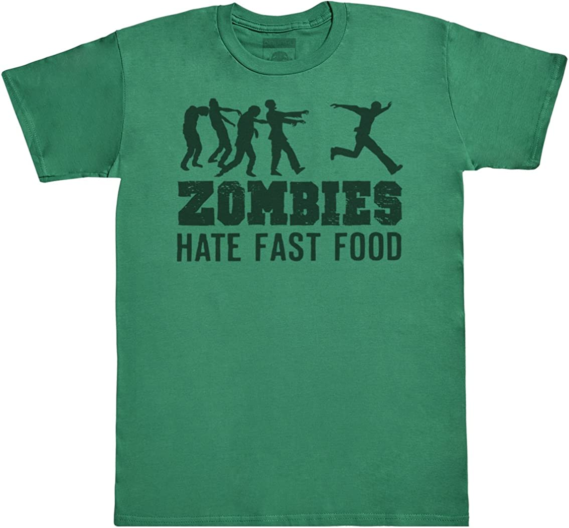 Zombies Hate Fast Food Men's Novelty T-Shirt, Mens Gift, Gift for Him, Mens Top