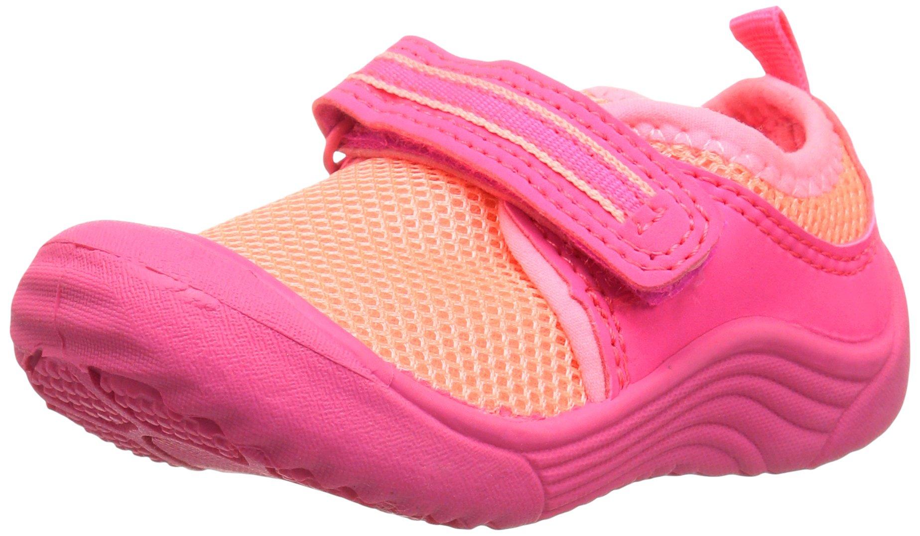 Carter's Girls' Chucky Water Shoe, Pink/Orange, 10 M US Toddler