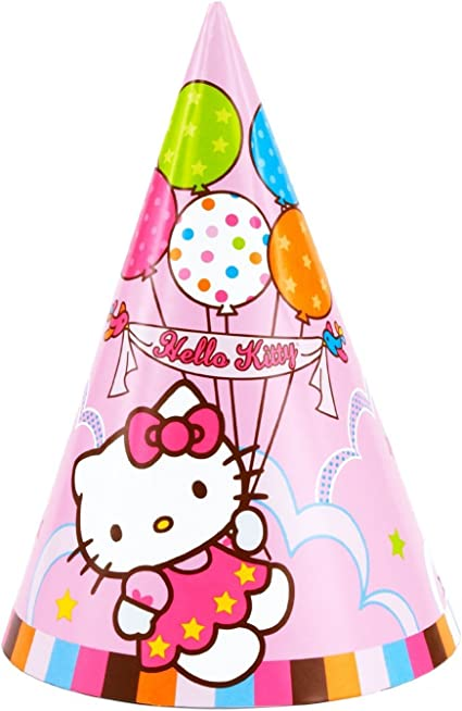 Amazon Com Amscan Inc Hello Kitty Party Hats Toys Games