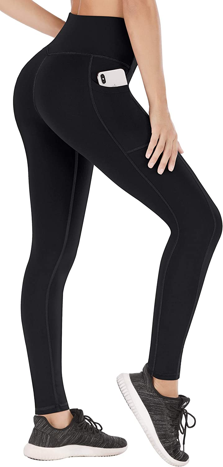 Heathyoga Leggings with Pockets for Women High Waisted Yoga Pants for Women with Pockets Tummy Control Workout Leggings