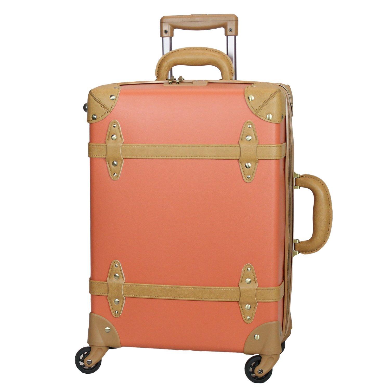 MOIERG(モアエルグ) 軽量 キャリーバッグ 容量UP YKK使用 キャリーケース スーツケース 3年保証 B0799G94PG S オレンジ オレンジ S