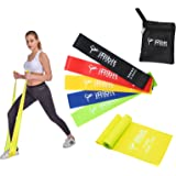 A Set of 5 Resistance Loop Bands and a 6.5ft Straight Band for Workout, Exercise, CrossFit Fitness, and Stretching