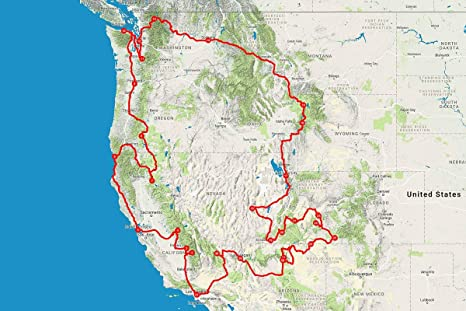 Amazon.com: Home Comforts Laminated Map - Western USA Road Trip ...