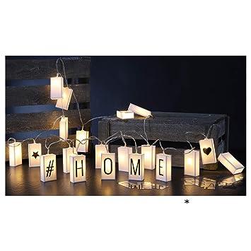 Lichterkette Buchstaben selbst gestalten Geburtstag ...