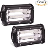 XYH Led Light Bar 5INCH 72W 10800Lumens Two rows Modified off-road lights roof light bar,Trucks, forklifts roof light bar,3Years Warranty.