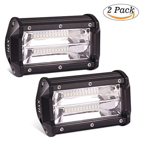 XYH 5INCH 72W 10800Lumens Two Rows Led Light Bar Modified Off Road Lights  Roof Light