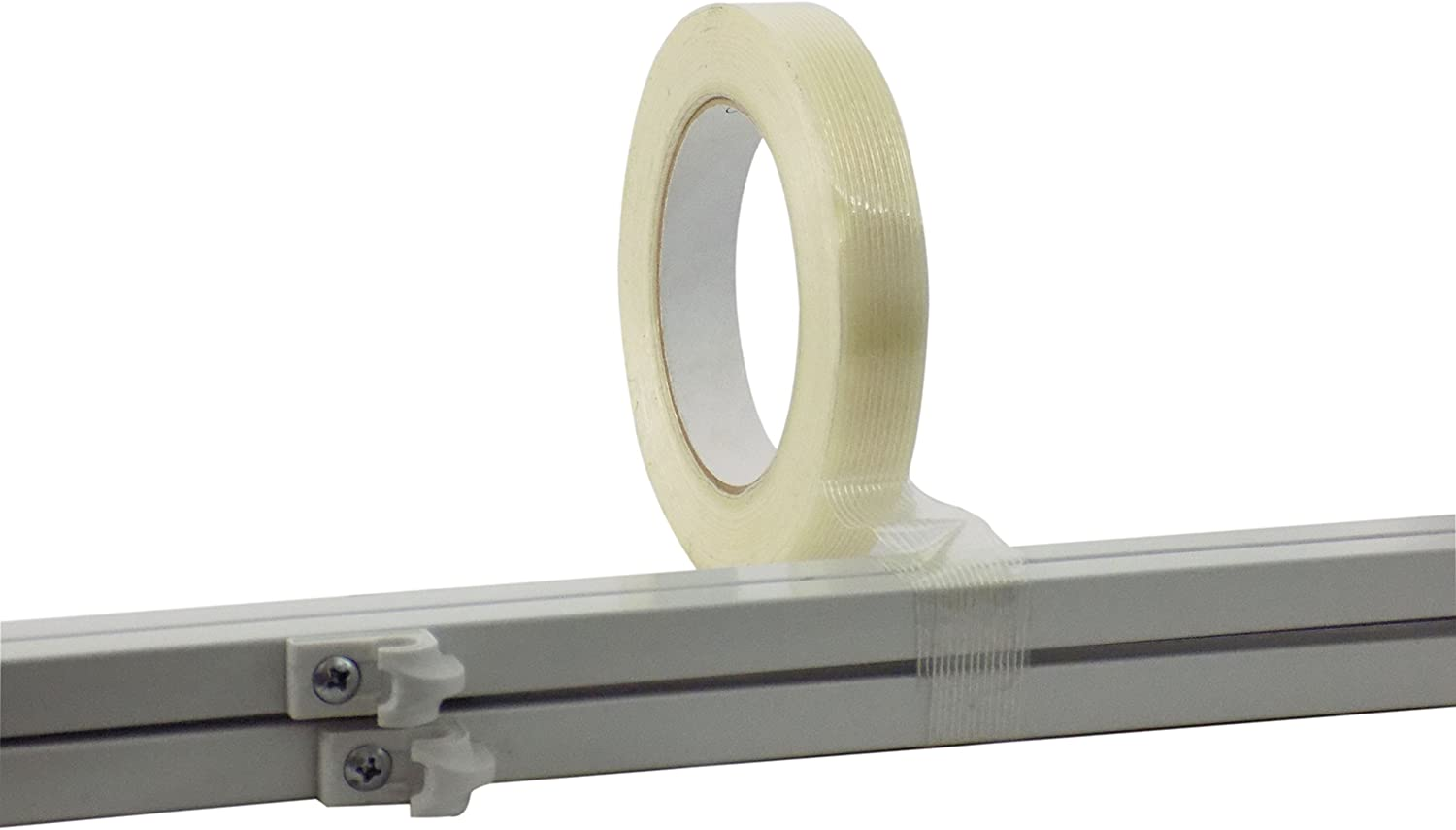 Wide x 60 yds. MAT Commodity Grade Fiberglass Reinforced Filament Strapping Tape Filaments Run Lengthwise Pack of 36 1 in