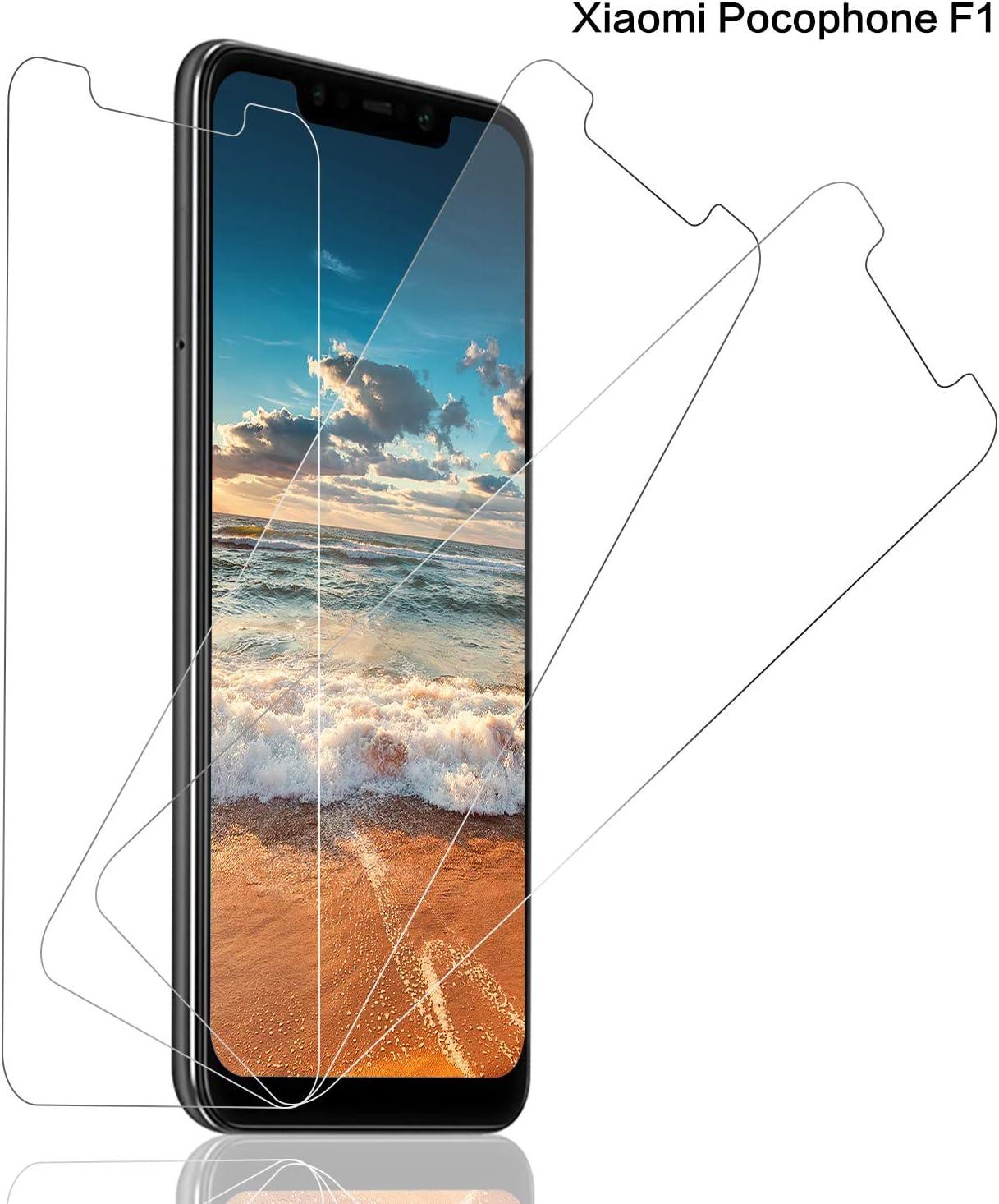 SNUNGPHIR® Cristal Templado Xiaomi Pocophone F1,[3-Pack] Protector Pantalla Xiaomi Pocophone F1 Cristal Templado [2.5d Borde Redondo][9H Dureza][Alta Definición][Anti-Arañazos][Anti-Huella Digital]: Amazon.es: Electrónica