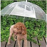 Sotoboo Paraguas para Mascotas (Paraguas para Perro/Gato), Correa de Perro,