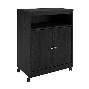 Ameriwood Home 5206026PCOM Landry Microwave Cart, Black Oak