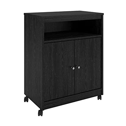 Charmant Ameriwood Home 5206026PCOM Landry Microwave Cart, Black Oak