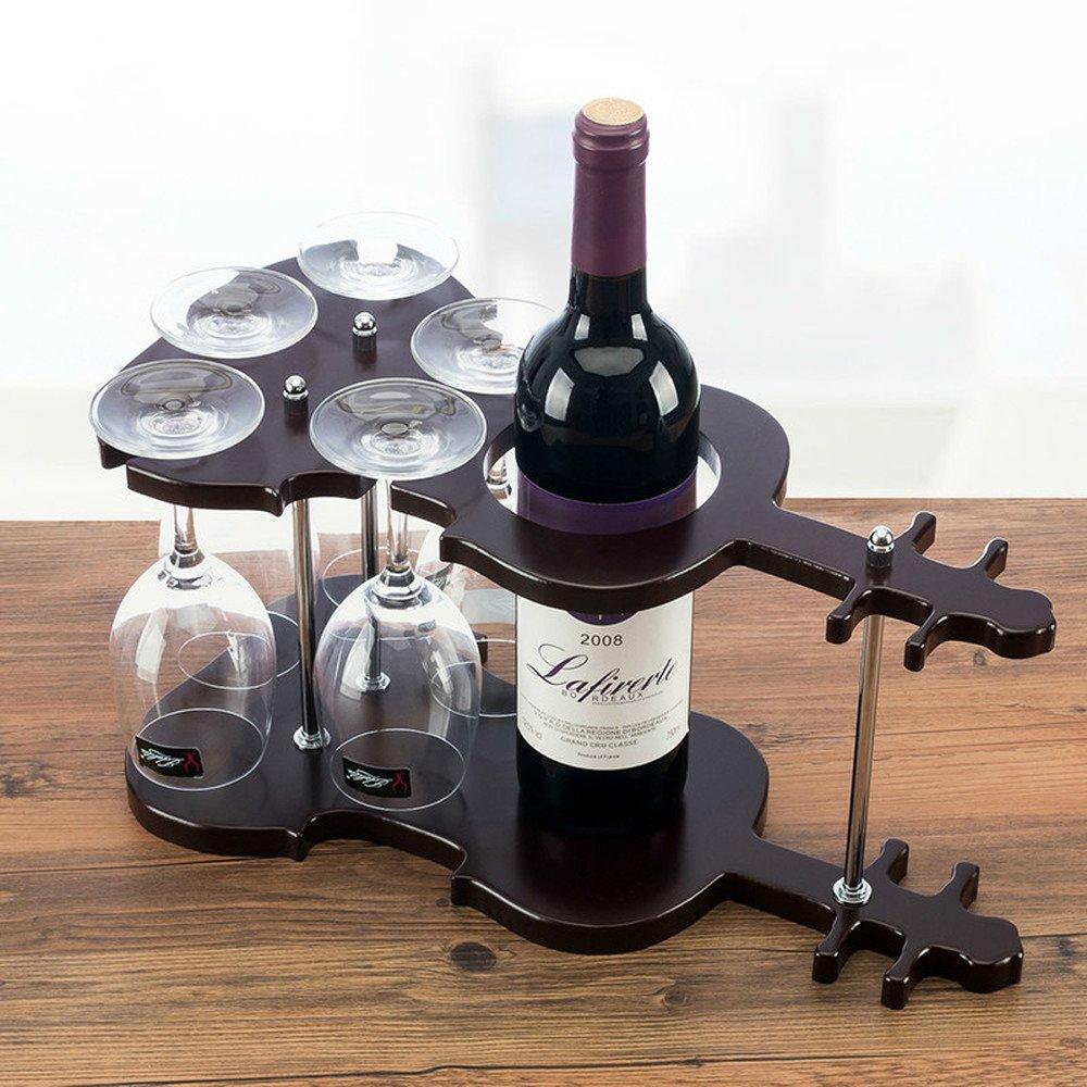 Bwlzsp 1 PCS European wood solid wood wine rack wine rack goblet rack red wine glass rack bar (Without bottles and cups) LU717516
