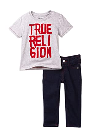 96154fe3 Image Unavailable. Image not available for. Color: True Religion Boy's Long  Sleeve Shirt & Jeans Set ...