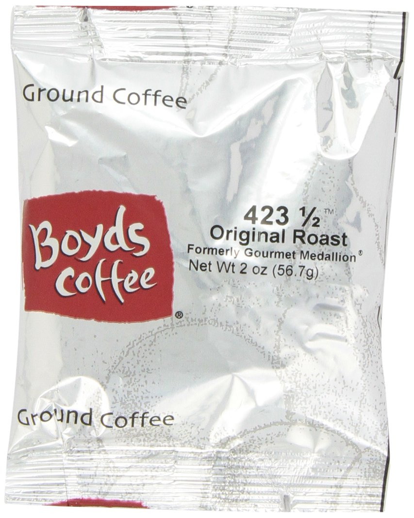 Boyd's Coffee Ground Coffee, Original Roast, Medium Roast , 2-Ounce Portion Packs (Pack of 60) by Boyds Coffee
