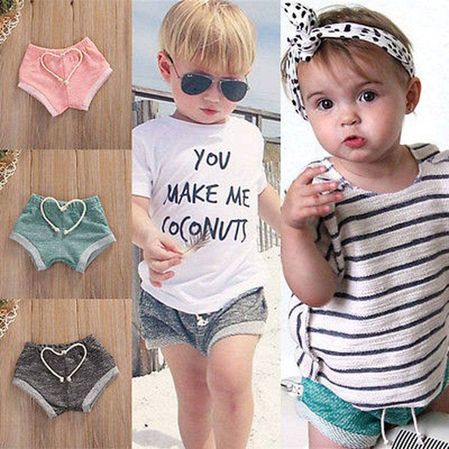 Fashion Kid Baby Boys Girls Pure Color Cotton Shorts Bottoms Toddler Summer Bloomers