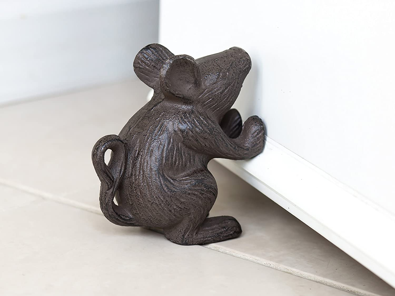 Amazoncom Cast Iron Mouse Door Stop Decorative Rustic Door