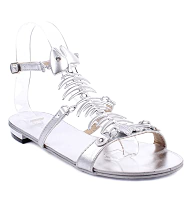 70c76a7f94152 Amazon.com | New Adjustable Strap Buckle Fish Bone Rhinestone Design Stlish  Women Sandals Casual Shoes | Sandals
