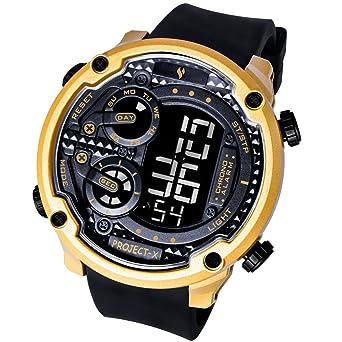 Yongs - Reloj de pulsera digital deportivo para hombre, resistente al agua hasta 100 m, grandes números, pantalla LCD con retroiluminación, diseño de estilo ...