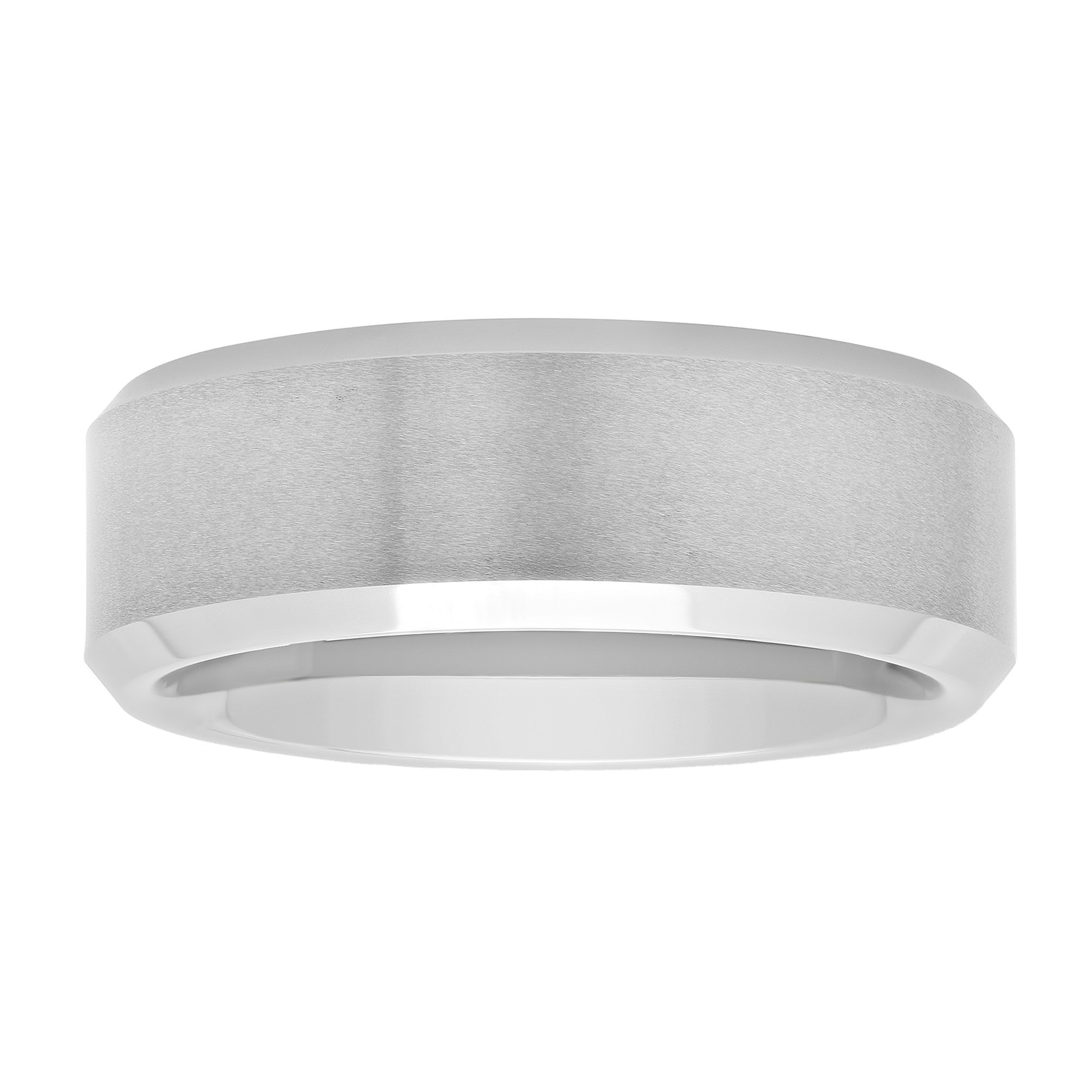 STEEL NATION JEWELRY Men's Tantalum Carbide 8mm Satin Finish Wedding Band, Mens Ring by STEEL NATION JEWELRY