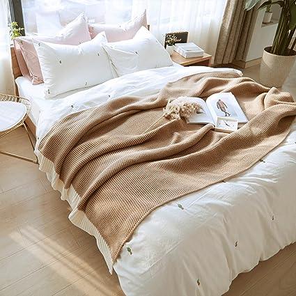 Wddwarmhome Einfache Stricken Decken Einfarbig Hause Decken Vier ...