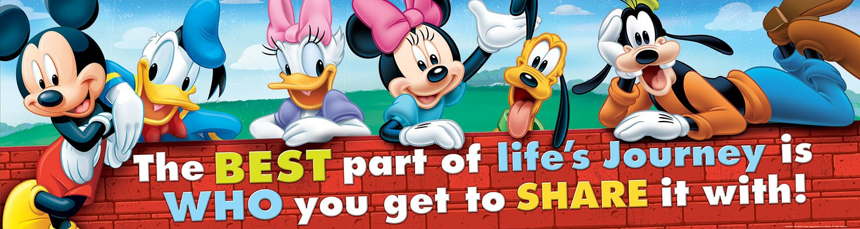 "Eureka Mickey Classroom Banner, Friendship, 12 x 45"""