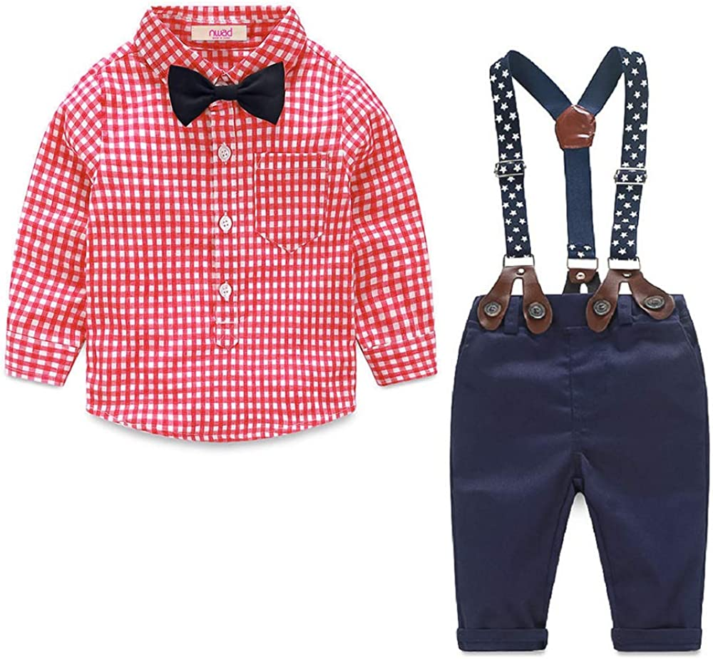 UK Toddler Kids Baby Boy Gentleman Clothes Formal Party Tops Pants Outfits Set