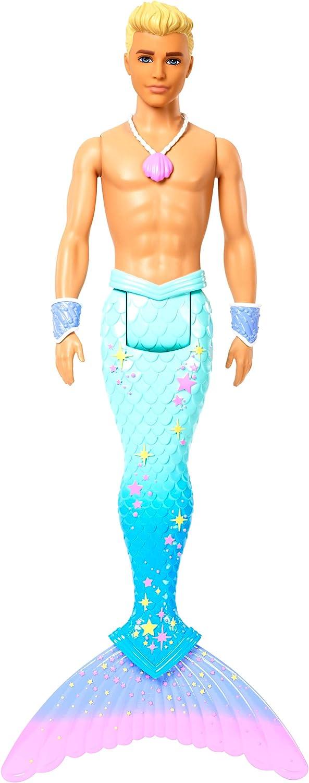 Barbie Dreamtopia Muñeco Ken Tritón, regalo para niñas y niños 3-9 años (Mattel FXT23)