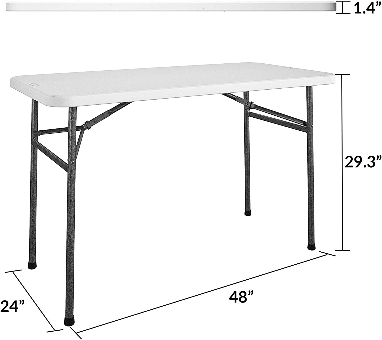 Costway 4ft Camping and Utility Folding Table Height Adjustable Indoor Outdoor