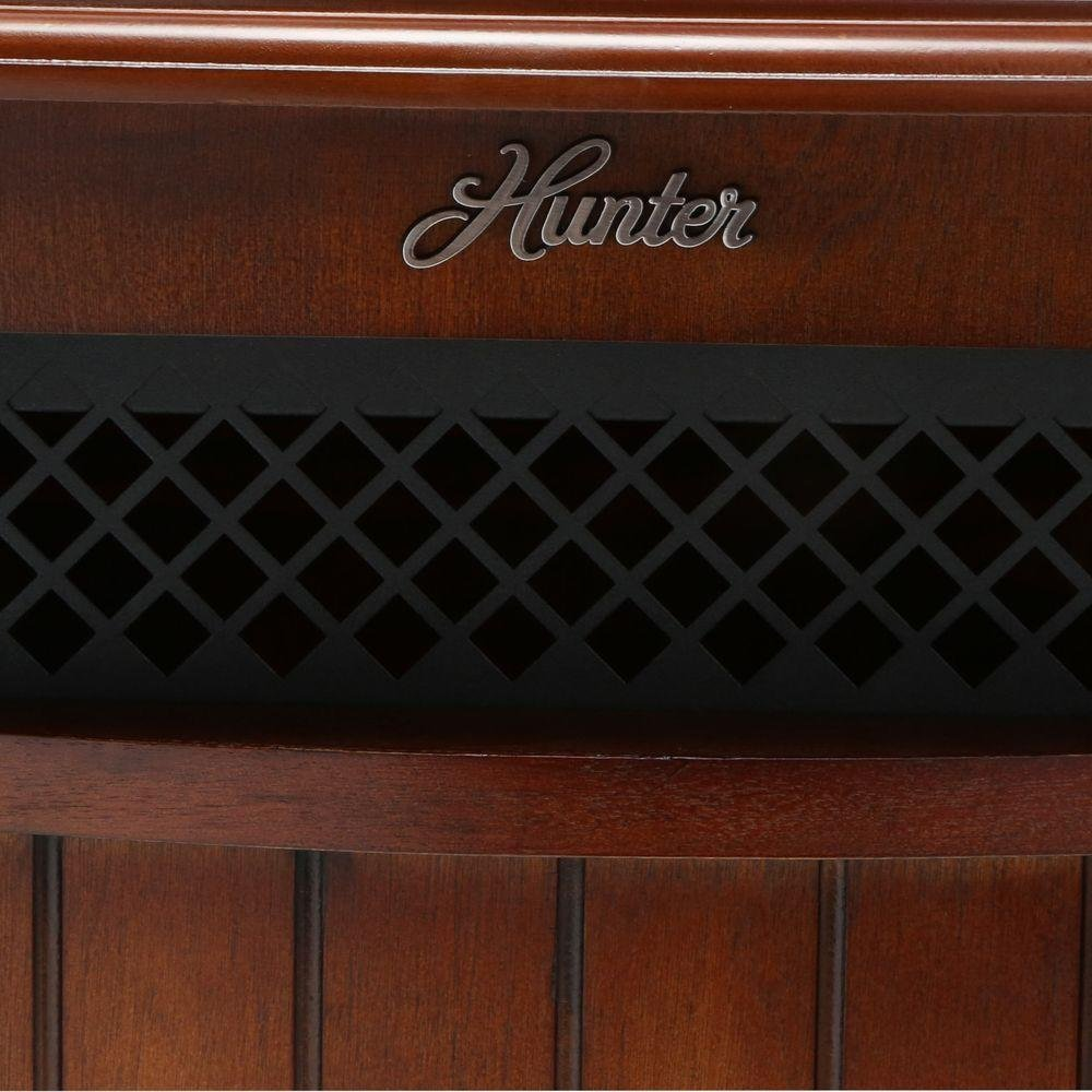 Hunter Solid Wood Cabinet 6-Quartz Infrared Heater with Remote Control Black Hunter Home Comfort H1500RC-BLK