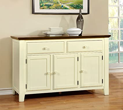 Amazon.com - Furniture of America CM3216SV Harrisburg Server ...
