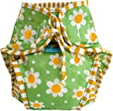 Kushies Baby Unisex Swim Diaper, Green Daisy