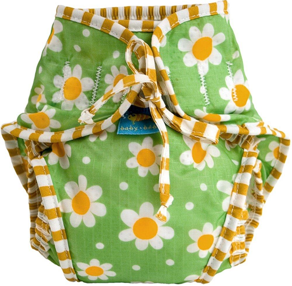 Kushies Baby Unisex Swim Diaper, Green Daisy