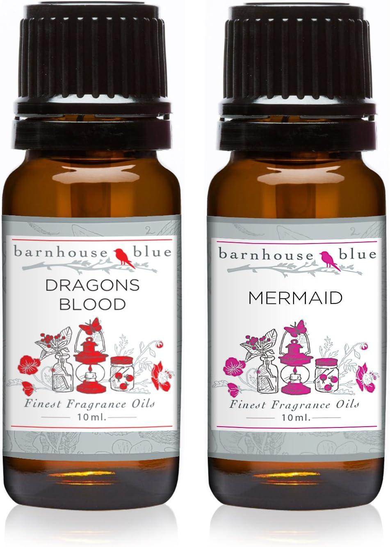Pair (2) - Barnhouse Blue - Dragons Blood & Mermaid - Premium Fragrance Oil Pair - 10ml