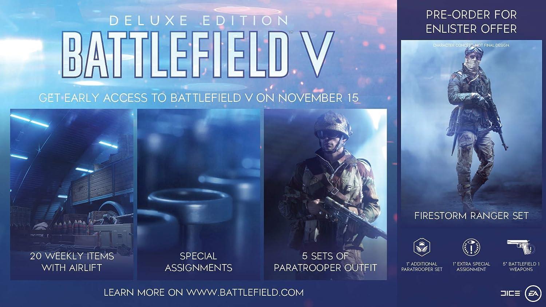 Resultado de imagen para battlefield v deluxe edition ps4 cover